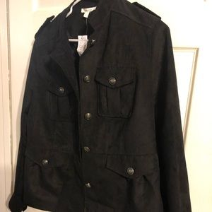 Maurices military black jacket